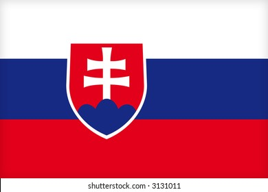 The flag of Slovakia. (Original and official proportions).