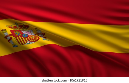 flag of Spain 3d rendering
