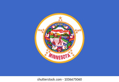 The flag of the state of Minnesota