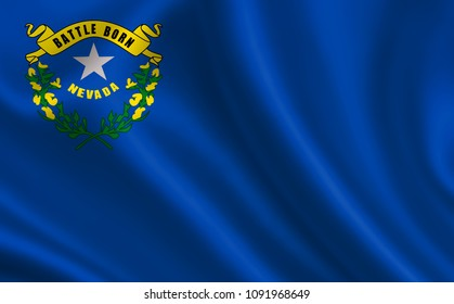 """Flag of the state Nevada. A series of """"flags of the United States of America"""""""