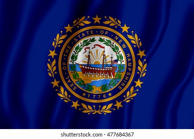 Flag of the State of New Hampshire (3D illustration)