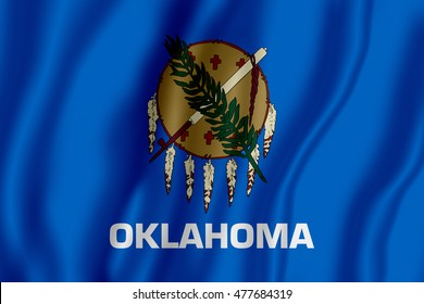 Flag of the State of Oklahoma (3D illustration)
