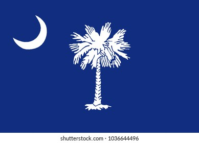The flag of the state of South Carolina