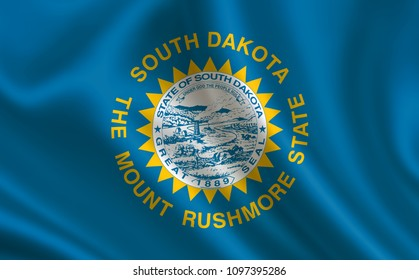 """Flag of the state South Dakota. A series of """"flags of the United States of America"""""""
