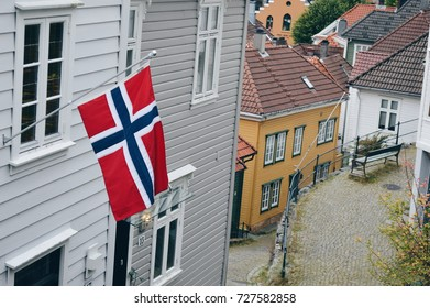 Flag in the streets of Bergen
