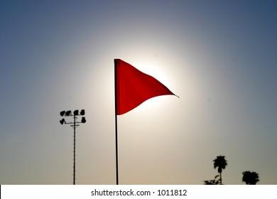 Flag with sun behind