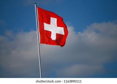 the flag of Switzerland.