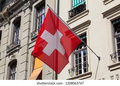 Flag of switzerland, Bern, Switzerland