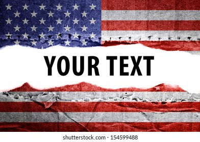 Flag. Text space.