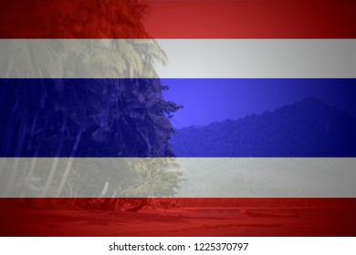 Flag of Thailand in minimalistic design and high quality