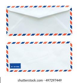 Flag of thailand white envelope on wood background