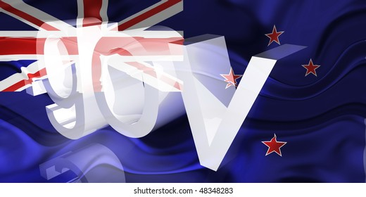 Flag of Tokelau, national country symbol illustration wavy gov government website