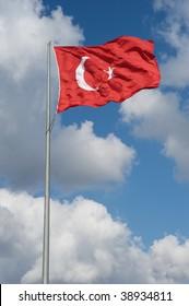 Flag of Turkey in Istanbul
