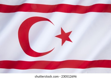 The flag of the Turkish Republic of Northern Cyprus - TRNC is a self-declared state that comprises the northeastern portion of the island of Cyprus. Recognized only by Turkey.