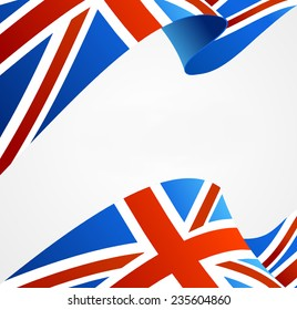 Flag of UK isolated on white