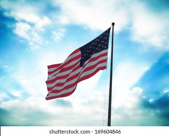 Flag of United States of America.
