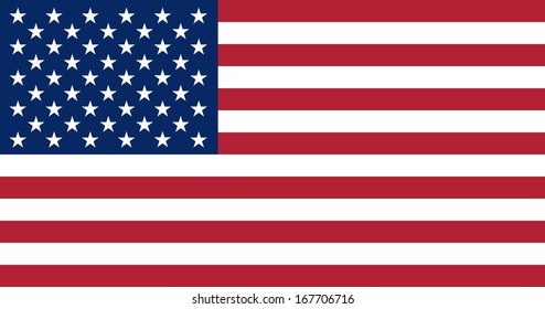 Flag of the United States of America. Accurate dimensions, elements proportions and colors.