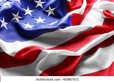 Flag of United States of America closeup