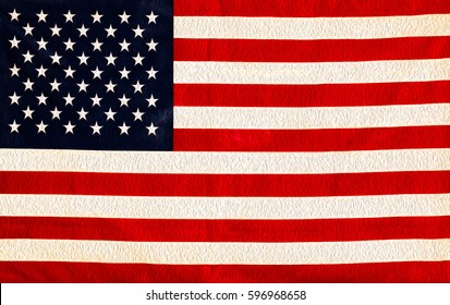The Flag of the United States of America the Red White and Blue