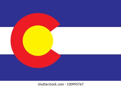 The flag of the United States of America State Colorado