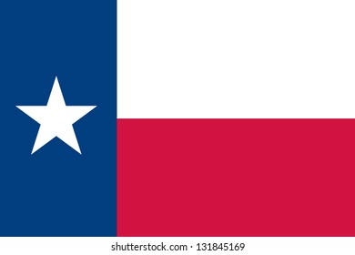The flag of the United States of America State Texas
