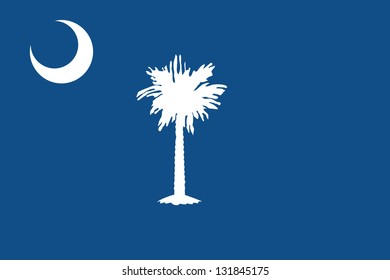 The flag of the United States of America State South Carolina