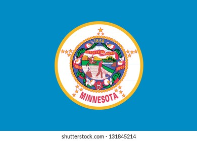 The flag of the United States of America State Minnesota