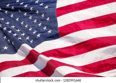 Flag of United States of america-American flag closeup