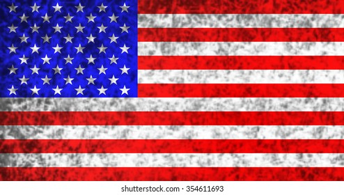 Flag of the United States in grunge style.