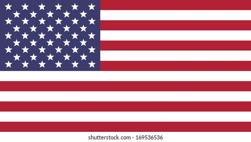 Flag of the United States - illustration.
