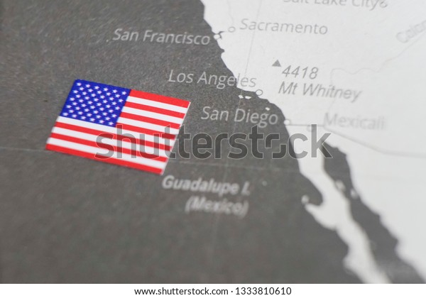 Flag United States Placed On Los Stock Photo (Edit Now ...