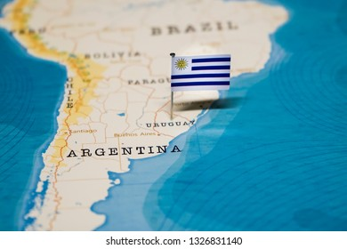 Uruguay Map Pin Images Stock Photos Vectors Shutterstock