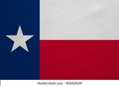 Flag of the US state of Texas. American patriotic element. USA banner. United States of America symbol. Texan official flag with real detailed fabric texture, illustration. Accurate size, colors
