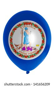 flag of us state of virginia balloon