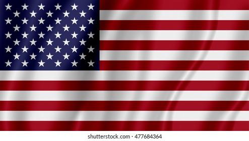 Flag of USA (3D illustration)