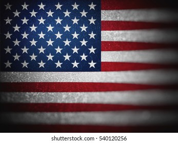 Flag of USA, backgrounds, textures, blurred image, dirty