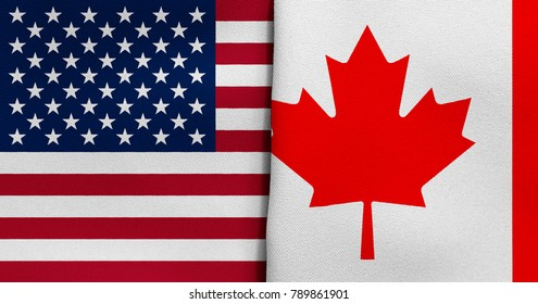 Flag of USA and Canada