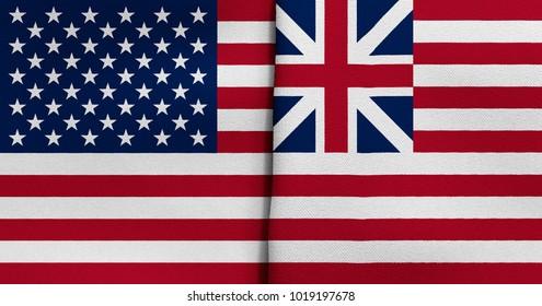 Flag of USA and Grand Union