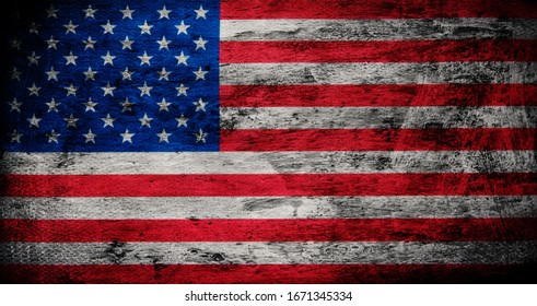 Flag of USA grunge background