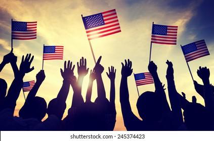 Flag USA July 4 Celebration Indendence Day Concept
