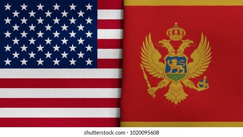 Flag of USA and Montenegro