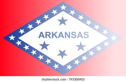 The flag of the USA state of Arkansas with fade