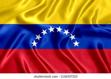 Flag of Venezuela silk