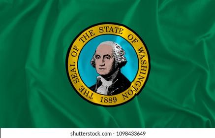 Flag of Washington Background, The Evergreen State