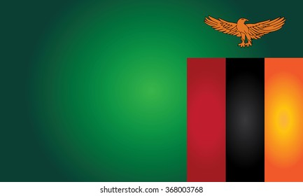 Flag of Zambia (Republic of Zambia)