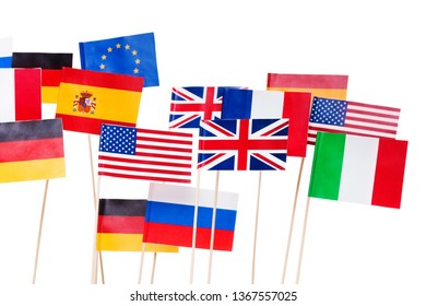 Flags of America and European Union member-states