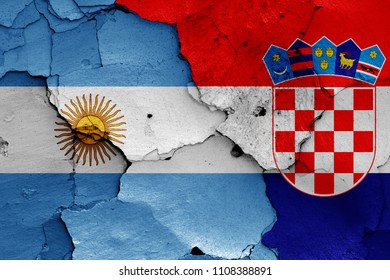 flags of Argentina and Croatia