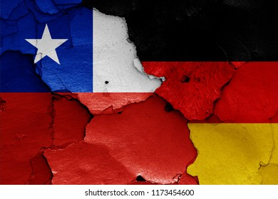 flags of Chile and Germany