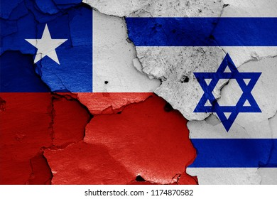 flags of Chile and Israel