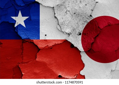 flags of Chile and Japan